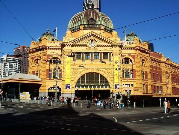 flinders street railway station melbourne. Black Bedroom Furniture Sets. Home Design Ideas