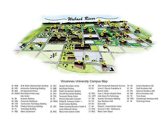 vincennes university campus map Vincennes University Vincennes Indiana vincennes university campus map