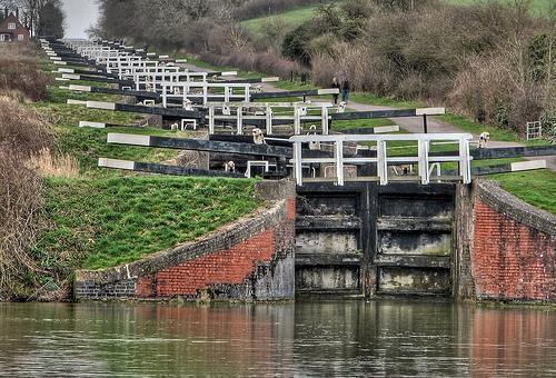 the invention of canal locks in water transport History of transport and travel including the great canal of darius i, roman roads, china's grand canal, flash locks and pound locks, junks and caravels, inca roads, european canals.