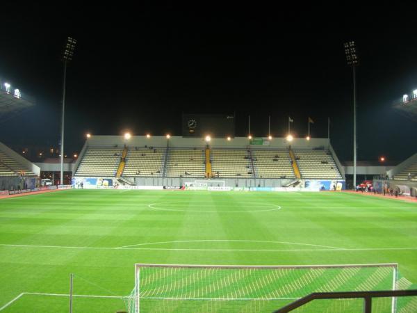 """Central Stadium, Запорожье, Украина. адрес.  Стадион футбольного клуба  """"Металлург """" ."""