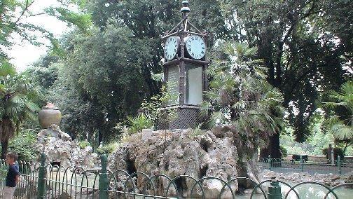 Orologio ad acqua water clock rome monument fountain