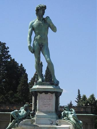 a description of the davids of the world on the bronze statue With seminal statues including his davids in marble (1408–09) and bronze  the world's first aluminium statue 1884  large bronze sculpture for the.