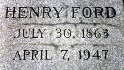 Henry Ford S Grave Site Detroit Michigan