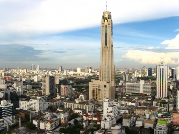 Baiyoke Tower II  hotel, skyscraper, panoramic view