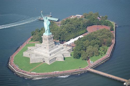 Ellis Island Et Liberty Island Carte