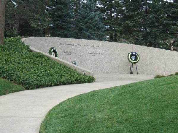 Grave Of President Gerald R Ford Grand Rapids Michigan