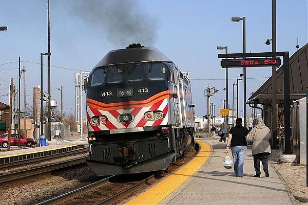 Galewood Metra Station Chicago Illinois