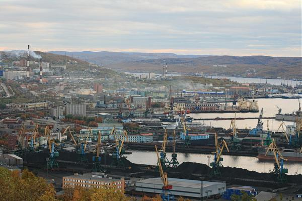 City map Murmansk PDF Russia