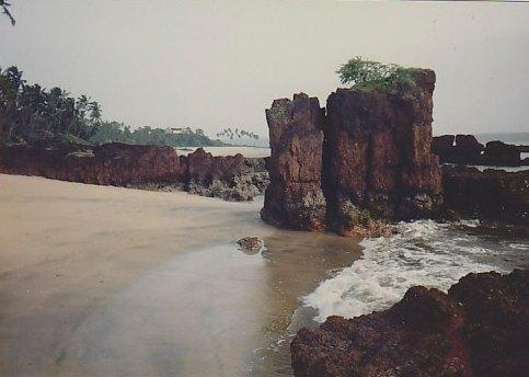 Rocks near Siridao beach, Goa: best beaches