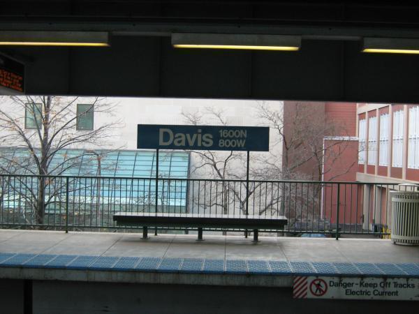 Davis street cta station evanston illinois for Garage builders evanston il
