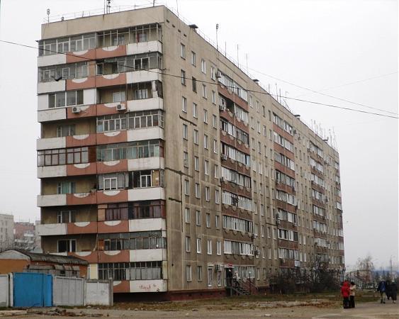 Советские панельные дома с лоджиями..