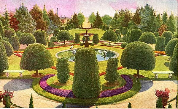 Wattles Mansion Formal Garden Circa1907 Los Angeles