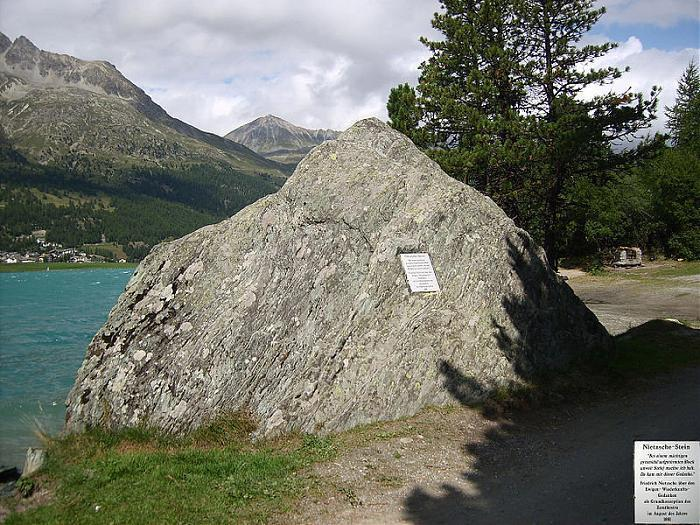 Surlej-Felsen bei Sils Maria