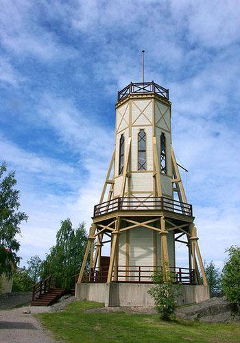 Kiikartorni the lookout tower rauma finland rauma town for Building a lookout tower