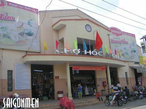Một góc Chợ ở Thị trấn Hóc Môn - ảnh: internet
