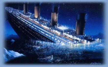место гибели Титаника