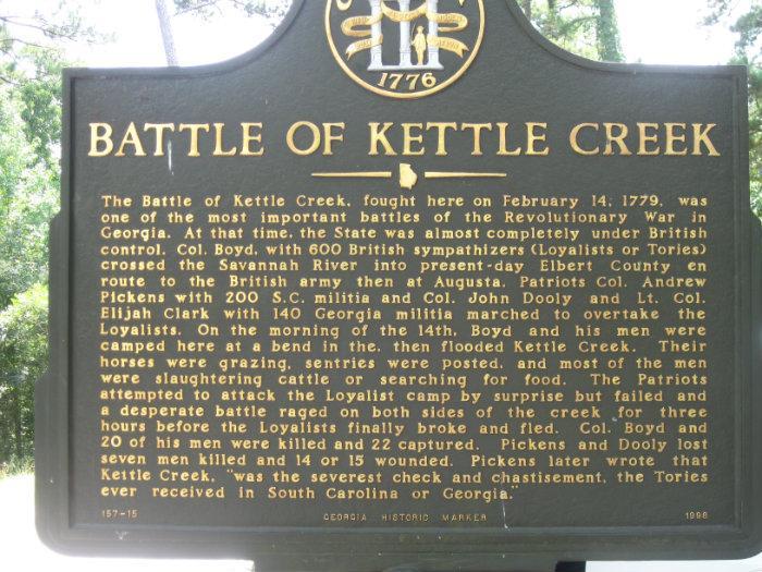 Kettle Creek Battlefield Monument Interesting Place