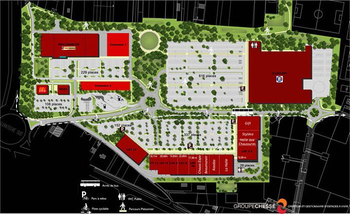 zone commerciale du blanc carroi leclerc magasin supermarch grand magasin quincaillerie. Black Bedroom Furniture Sets. Home Design Ideas