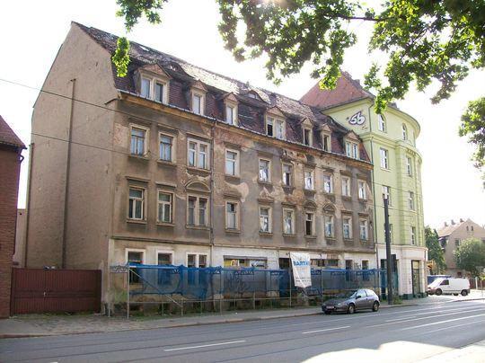 Leerstehendes Haus Leipziger Stra E 194 Dresden