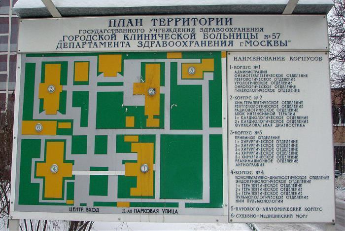 Схема больницы пирогова