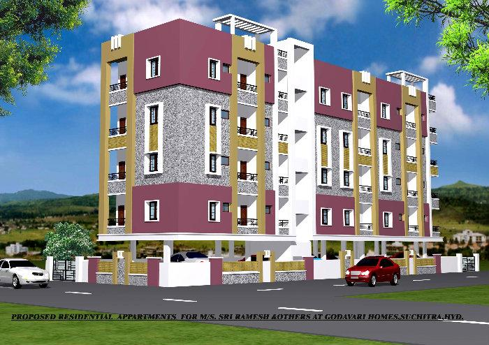 Om sai apartments suchitra hyderabad hyderabad for Apartment design standards india