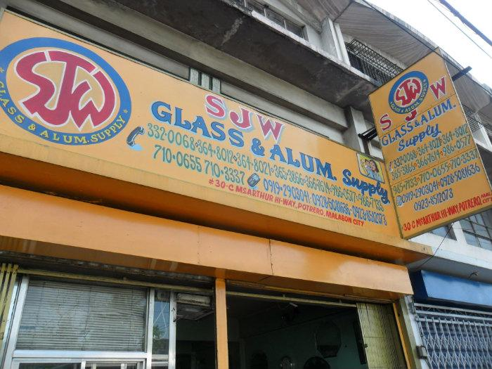 Sjw Glass And Aluminum Supply Tindahan Malabon