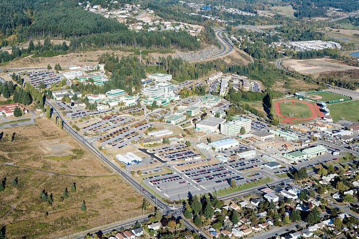 Nanaimo Vancouver Island University Map