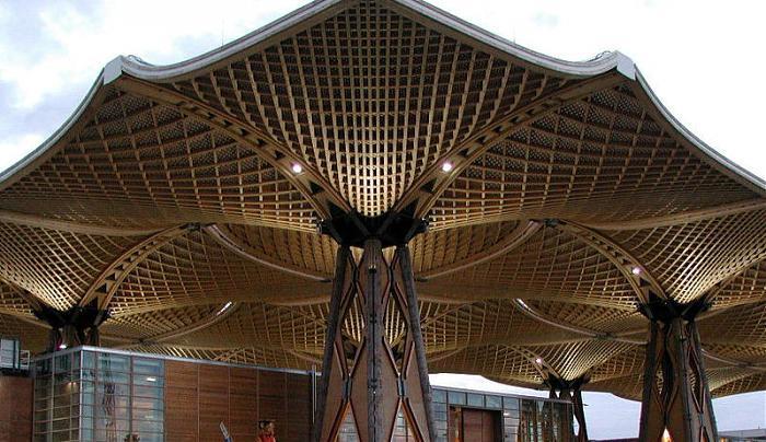 Holz Pavillon Messe Hannover ~ Expodach  Hannover  Konstruktion, Pavillon, hölzern