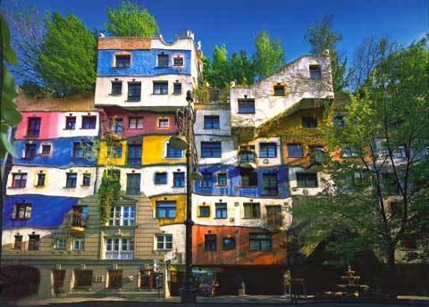 Hundertwasserhaus wien deutsch for Architecture hundertwasser