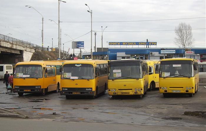 Конечная автобуса 37 и маршрутки 561.  Ukraine.  Kotsyubynske.