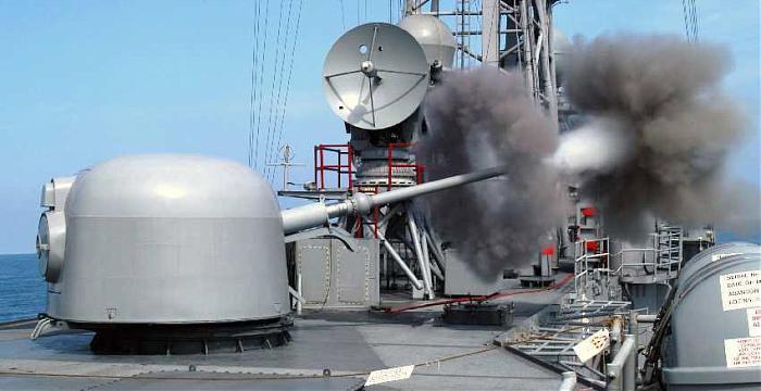 Итальянская корабельная пушка