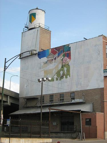 Former bank of america lasalle bank mural building for Mural in chicago illinois