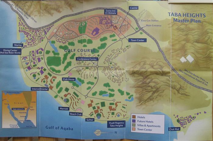 Where Is Taba Heights Egypt Map - Map of egypt hotels