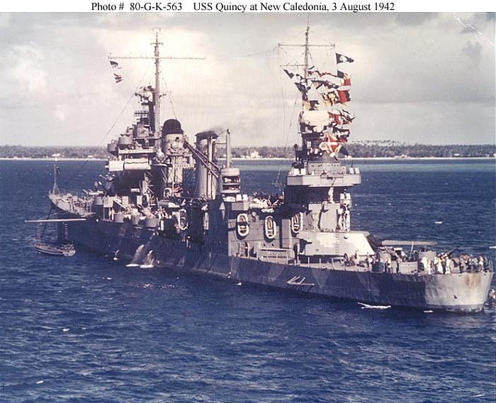 Wreck Of Uss Quincy Ca 39