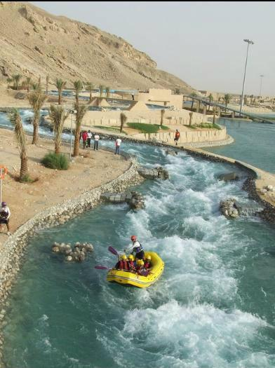 Al Ain Wadi Adventure Water Rafting And Surfing Pool