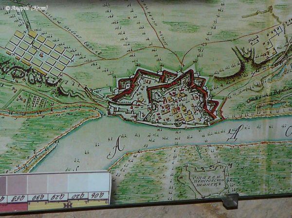 Карта крепости Азова