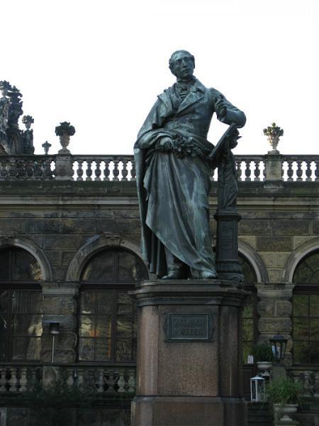 monument  composer carl maria von weber dresden