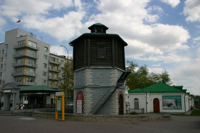 Старинная водонапорная башня - Екатеринбург Исторический Сквер Екатеринбург