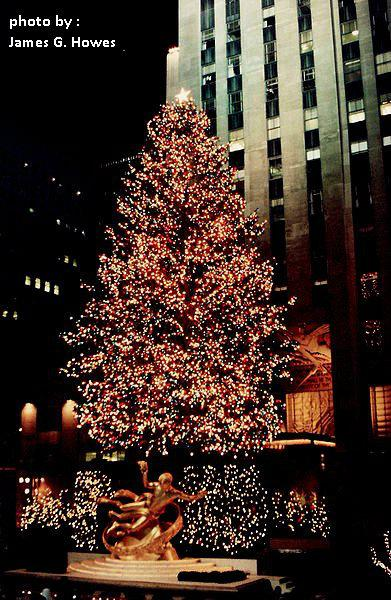 weihnachtsbaum am rockefeller center new york city. Black Bedroom Furniture Sets. Home Design Ideas