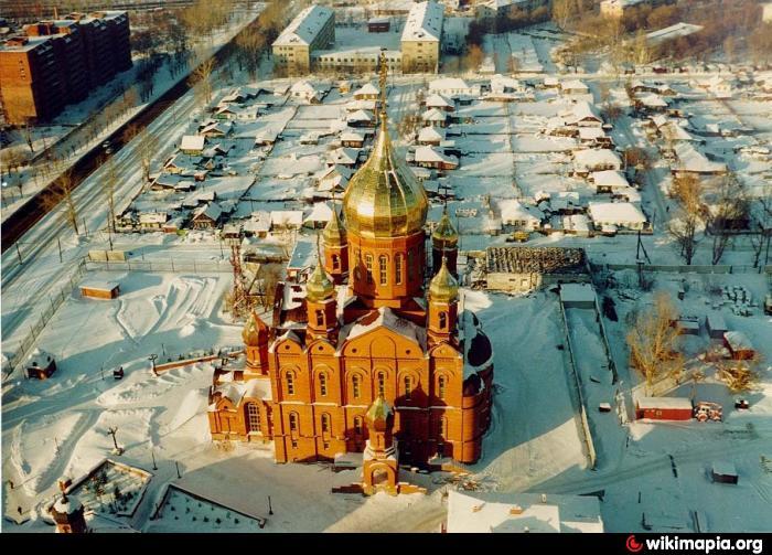 Znamensky cathedral Kemerovo church Russian