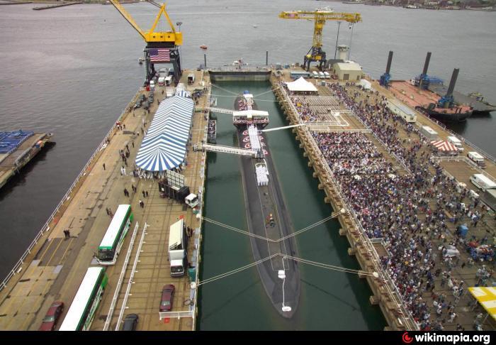 gd electric boat graving dock shipyard drydock