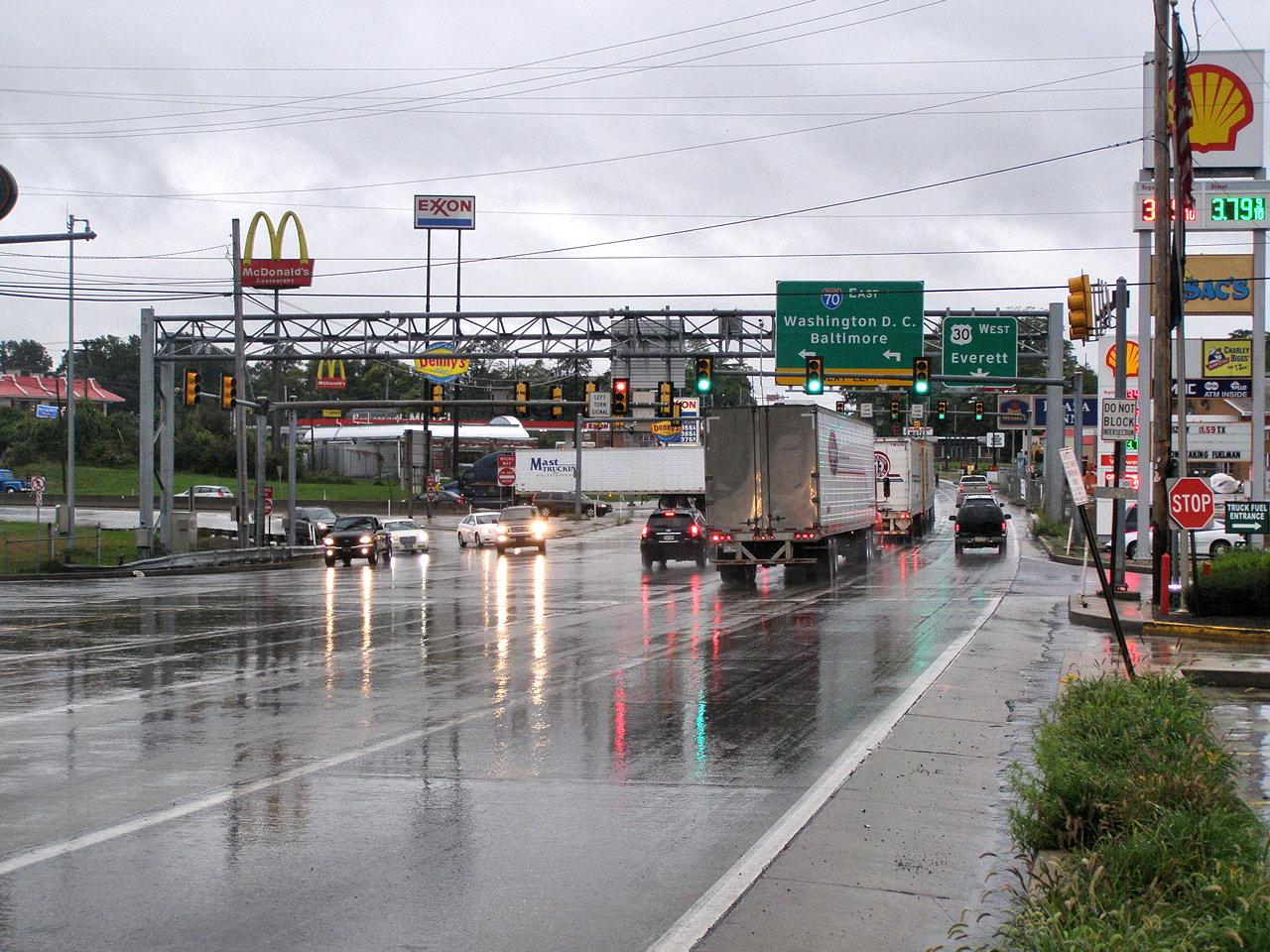 Breezewood (PA) United States  city photos : Infamous Breezewood Gap Breezewood, Pennsylvania
