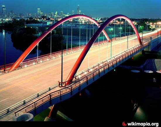 North Damen Avenue Bridge Chicago Illinois