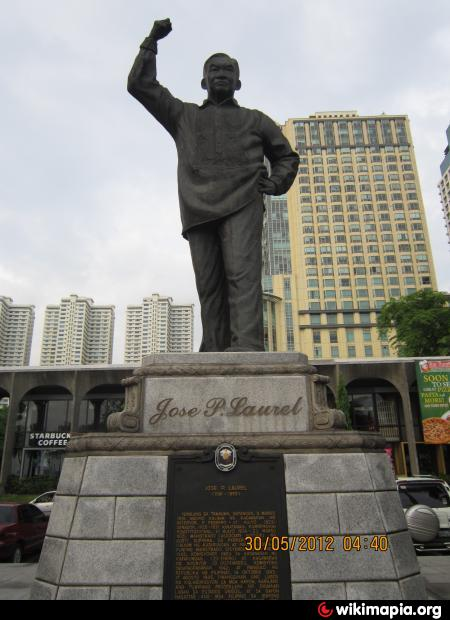 jose p laurel Jose laurel street , also known as jp laurel street, is a tree-lined street in the district of san miguel in north-central manila , philippines it runs parallel to the pasig river from.