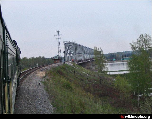 Железнодорожный мост транссиба через