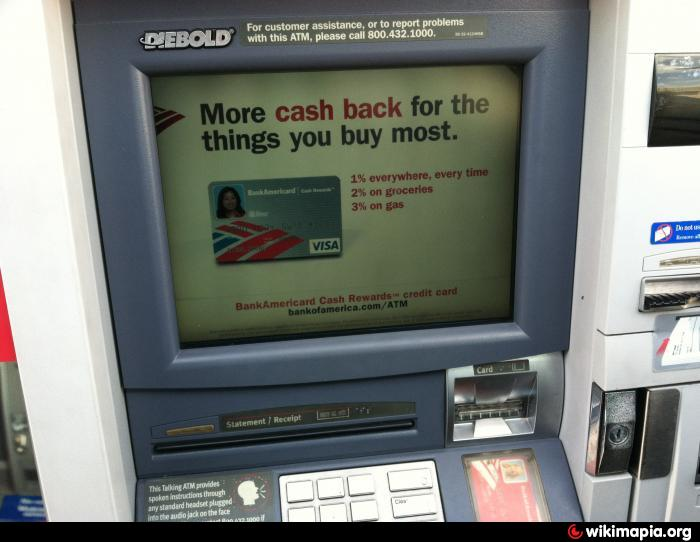 bank of america atm machine