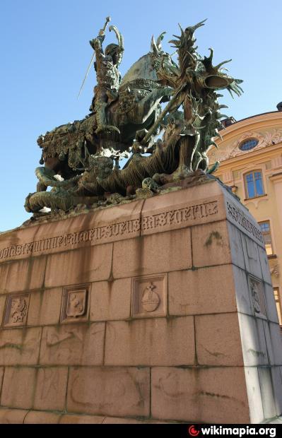 Скульптура святого георгия в стокгольме