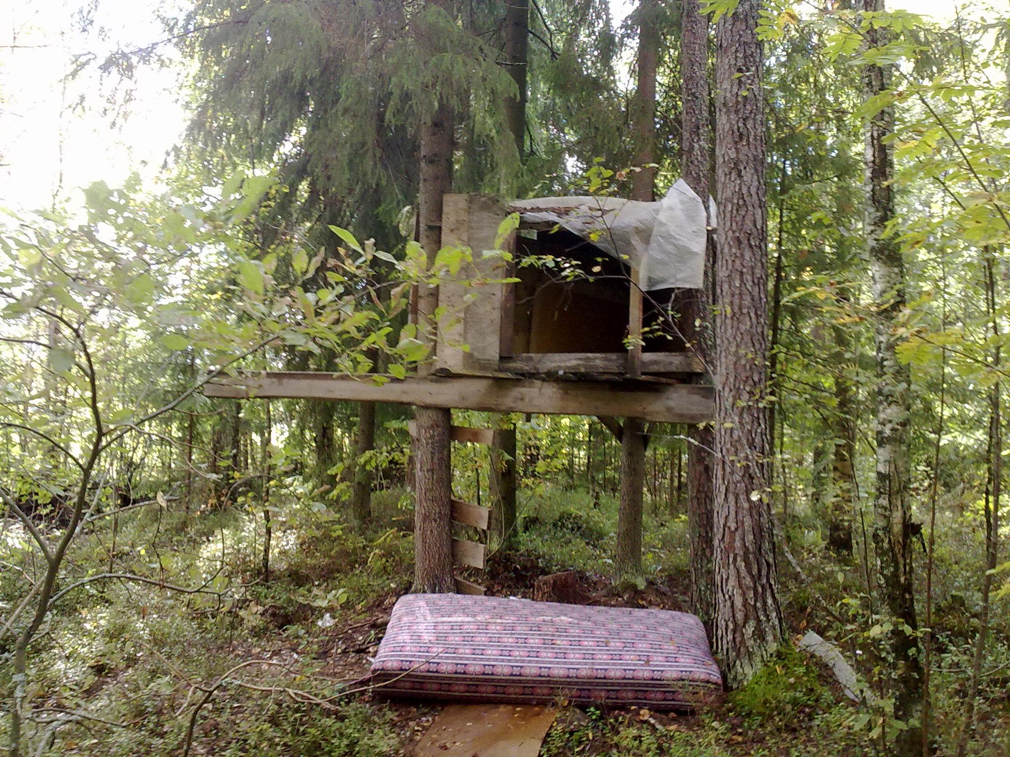 Домик на дереве своими руками - инструкция по строительству! 61