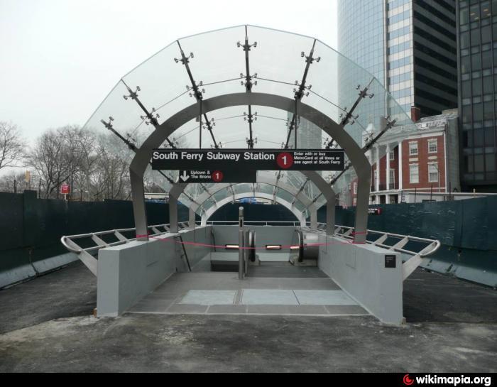 South Ferry Subway Entrance New York City New York