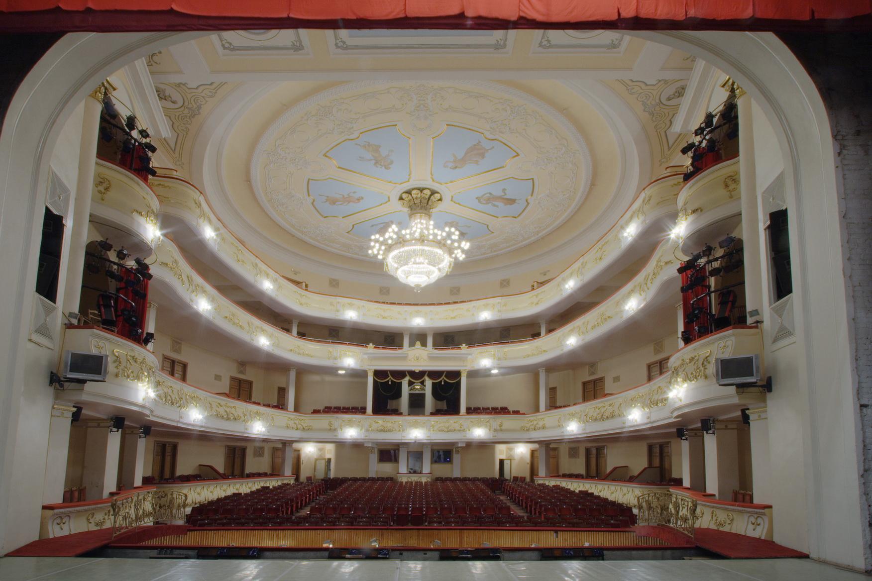 Здание Башкирского театра оперы и балета - Уфа - Россия - Приволжье.